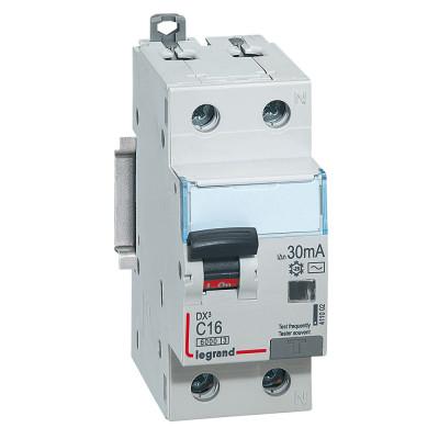 Дифференциальный автоматический выключатель 1p+N «Legrand DX3» 16 Ампер 0,03А «C»